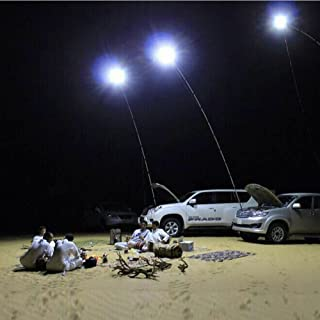 UBOWAY Outdoor Lamp Telescopic Fishing Rod Lamp with IR Remote for Camping, Fishing, Travelling, Party 12V