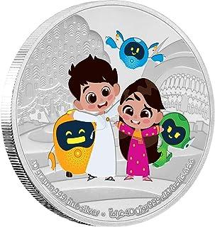 Expo 2020 Dubai Mascots Medallion 40g Silver