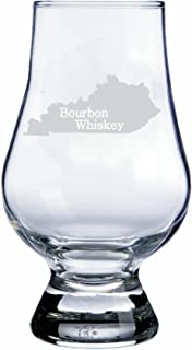 Kentucky Themed Glencairn Whisky Glass