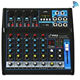 Pyle Professional Audio Mixer Sound Board Console - Desk System Interface with 6 Channel,...