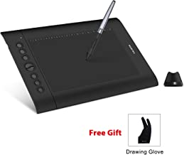 Huion H610 Pro V2 Graphics Drawing Tablet Tilt Function Battery-Free Stylus with 8192 Pen Pressure and 8 Hot Keys for Windows and Mac