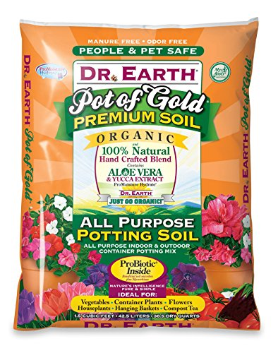Dr Earth 1-1/2CF Pro Biotic Pot Gold Potting Soil