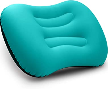Betus Inflatable Camping Travel Pillow - Compressible, Compact, Comfortable, Ergonomic Ultralight Travel Pillow for Neck & Lu