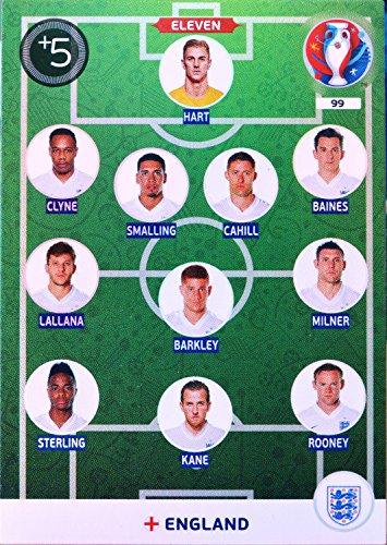 carte PANINI EURO 2016 #99 Eleven England