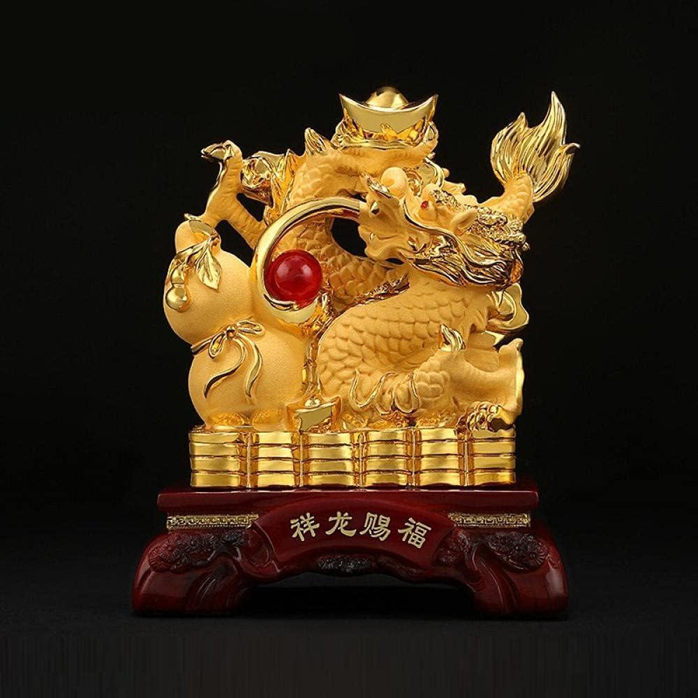 YANGHONDD Max 67% OFF Handmade Sculptures Chinese Li trend rank Dragon Resin