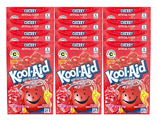 KOOL-AID CHERRY Unsweetened Drink Mix (12 Packets)