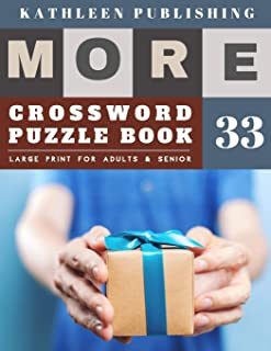 Crossword Large Print: Crossword Variety - More Full Page Crosswords to Challenge Your Brain (Find a Word for Adults & Sen...