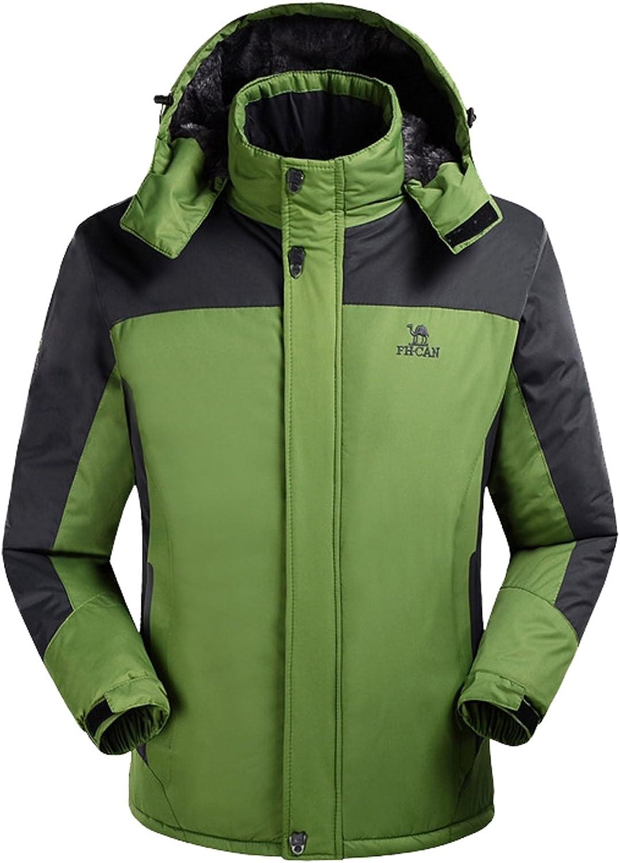 Lottaway Warm Fleece Hooded Outdoor Hiking Skiwear Anoraks Windbreaker Jacket
