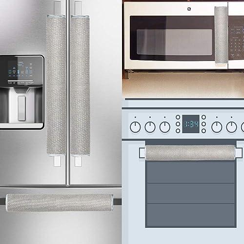 OUGAR8 Refrigerator Door Handle Cover Electrical Kitchen Appliances Gloves Fridge Microwave Dishwasher Door Cloth Pro...