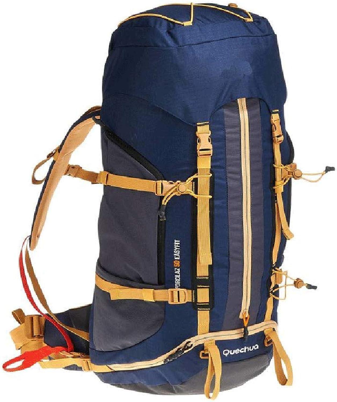JSSFQK 50L wasserdichter Reiserucksack Wanderrucksack Wanderrucksack mit mit mit Regenschutz für Männer und Frauen im Freien Outdoor-Rucksack (Farbe   Blau) B07MGFS44P  Im Freien f906a0