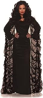Sheer Black Coffin Cape Black One Size