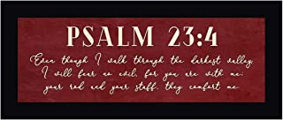 "Psalm 23:4 by Mlli Villa 9"" x 20"" Black Framed Canvas Giclee Art Print - Ready to Hang"
