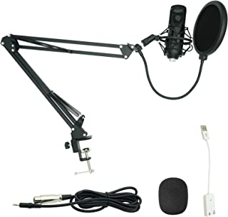 Sponsored Ad - USB Live Microphone Set Computer Podcast Capacitive Microphone Stand Professional Voiceover