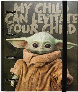 Erik - Classeur A4 4 Anneaux - Star Wars The Mandalorian, Baby Yoda : Grogu | Classeur Rigide | Fournitures Scolaires, Fou...