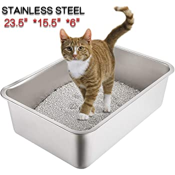 CatCentreⓇ Pink High Sided Open Pet Toilet Cat Litter Tray Box Portable