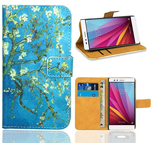 FoneExpert® Huawei Honor 5X Handy Tasche, Wallet Hülle Flip Cover Hüllen Etui Ledertasche Lederhülle Premium Schutzhülle für Huawei Honor 5X