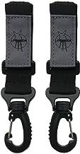 LÄSSIG Kinderwagenbefestigung 2 Stk. Klettverschluss Haken Kinderwagenhaken Einkaufshaken Kunstoff/Stroller Hooks, schwarz