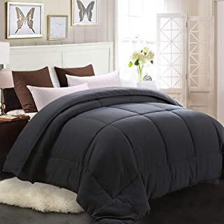 MEROUS King Comforter - Soft Quilted Down Alternative Duvet Insert with Corner Tabs,Summer Fluffy Reversible Hotel Collection Comforter - Gray,90x102 inch