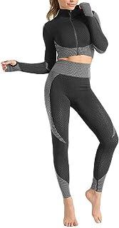 ملابس رياضية للنساء من مزود بفّاي رياضي ملابس للنساء بدلة رياضية 2 من قطعة واحدة اليوغا,3,L