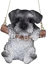 ABZ Brand Loving Cute Animal Pet Puppy Kitten Hanging Collectible Figurine Statue (Schnauzer)