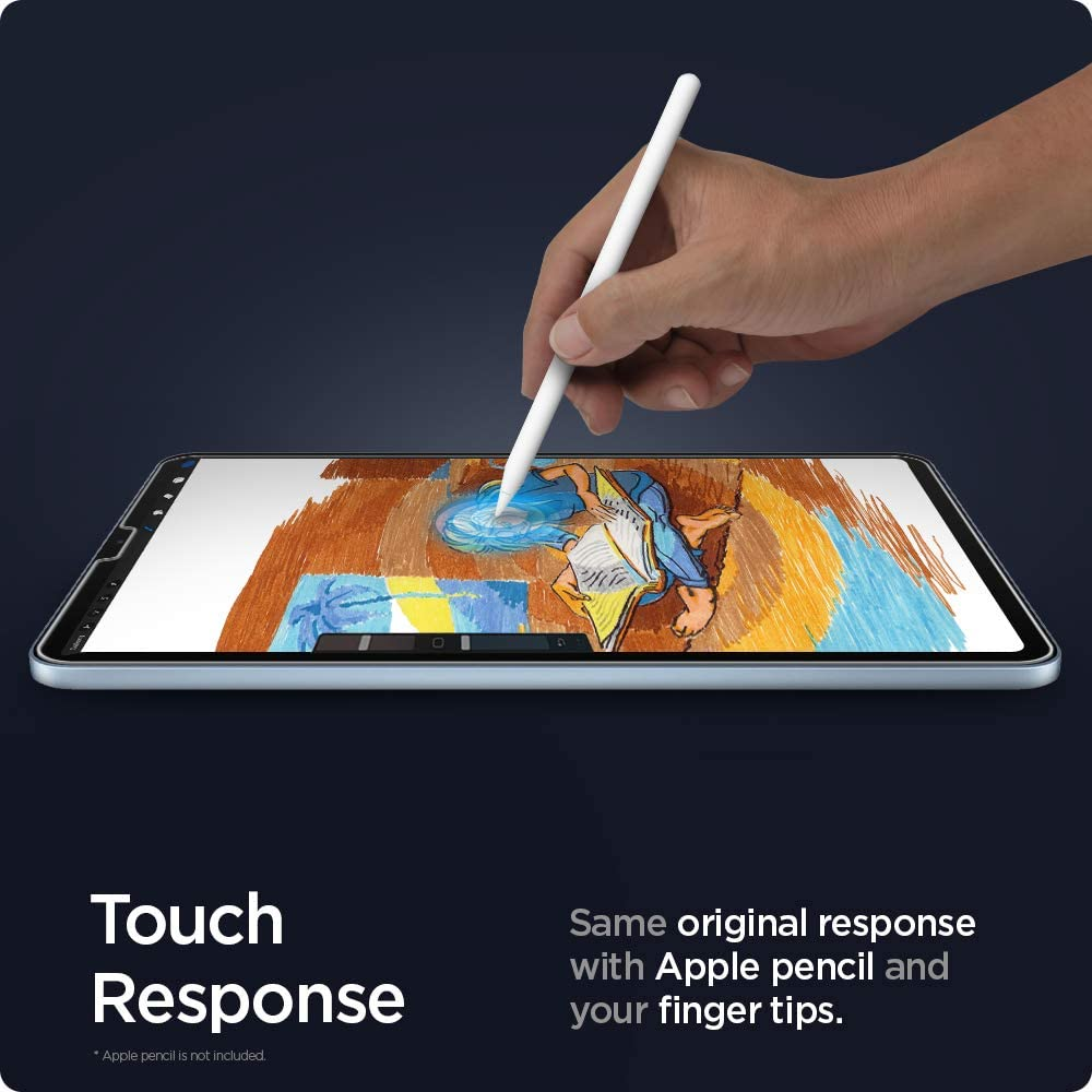 Spigen Tempered Glass Screen Protector [Glas.tR EZ Fit] Designed for iPad Pro 11 inch (2021/2020/2018) iPad Air 4 10.9 inch (2020) [9H Hardness/Case-Friendly]