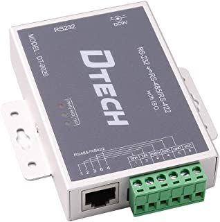 DTech Active Isolated RS232 to RS485 RS422 Converter with RJ45 Serial Port Terminal Board Power Adapter DB9 Cable Optical Isolation Protection 2.5kV
