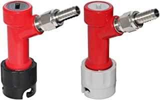 Pin-Lock MFL Dis-connect Set with Swivel Nuts (2) 5/16 Gas, 1/4 Liquid Barbed by PERA