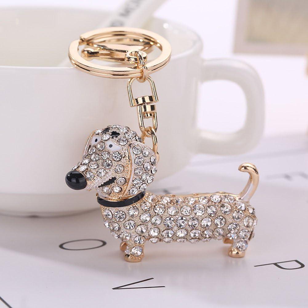 Bluelans Fashion Dackel Hund Legierung Strass Schlüsselanhänger Tasche Auto Anhänger Dekor Schlüsselanhänger Küche Haushalt