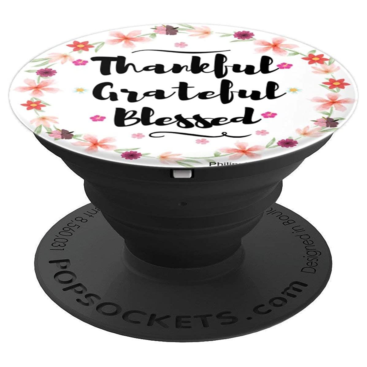 Thankful Grateful Blessed Cell Phone Grip Mount Holder - PopSockets Grip and Stand for Phones and Tablets