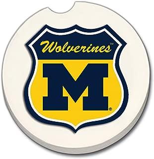 CounterArt NCAA Michigan Wolverines Shield Absorbent Stoneware Car Coaster