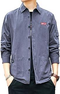 [スティーグル] 5カラー シャツジャケット カジュアル シャツ 秋 春 冬 シンプル 長袖 メンズ M~2XL