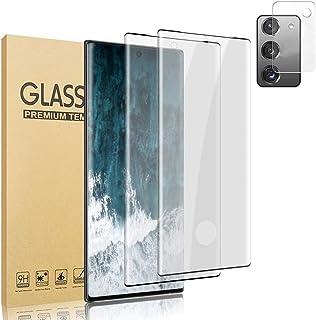 [2 + 1 PCS Camera Lens Film] Tempered Glass Screen Protector for Galaxy Note 20, 9H Hardness Fingerprint Sensor HD 3D Scre...