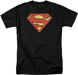 Superman Logo S Shield Black T Shirt