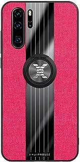 Ttimao Hoesje voor Huawei P30 Pro 360 ° Draaibare Ringbeugel Ultradunne Stof Geweven Patroon Telefoonhoes+1*Screen Protect...