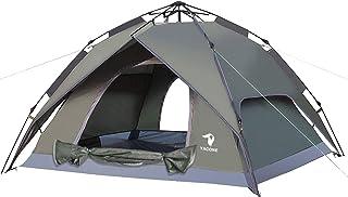 YACONE ワンタッチテント テント 3~4人用 ワンタッチ 2WAY テント 設営簡単 防災用 キャンプ用品 撥水加工 紫外線防止 登山 折りたたみ 防水 通気性 アウトドア
