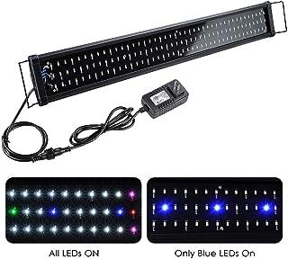 Yescom 129 Multi-Color LED Aquarium Light Extendable Full Spectrum Lamp for 36