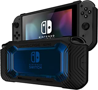 Rollcage Protection Case Cover for Nintendo Switch Easy Snap-on Slim Rubberized Hard PC and Flex TPU Black Tan Pink Grey Color Anti Scratch GameCage FortNite