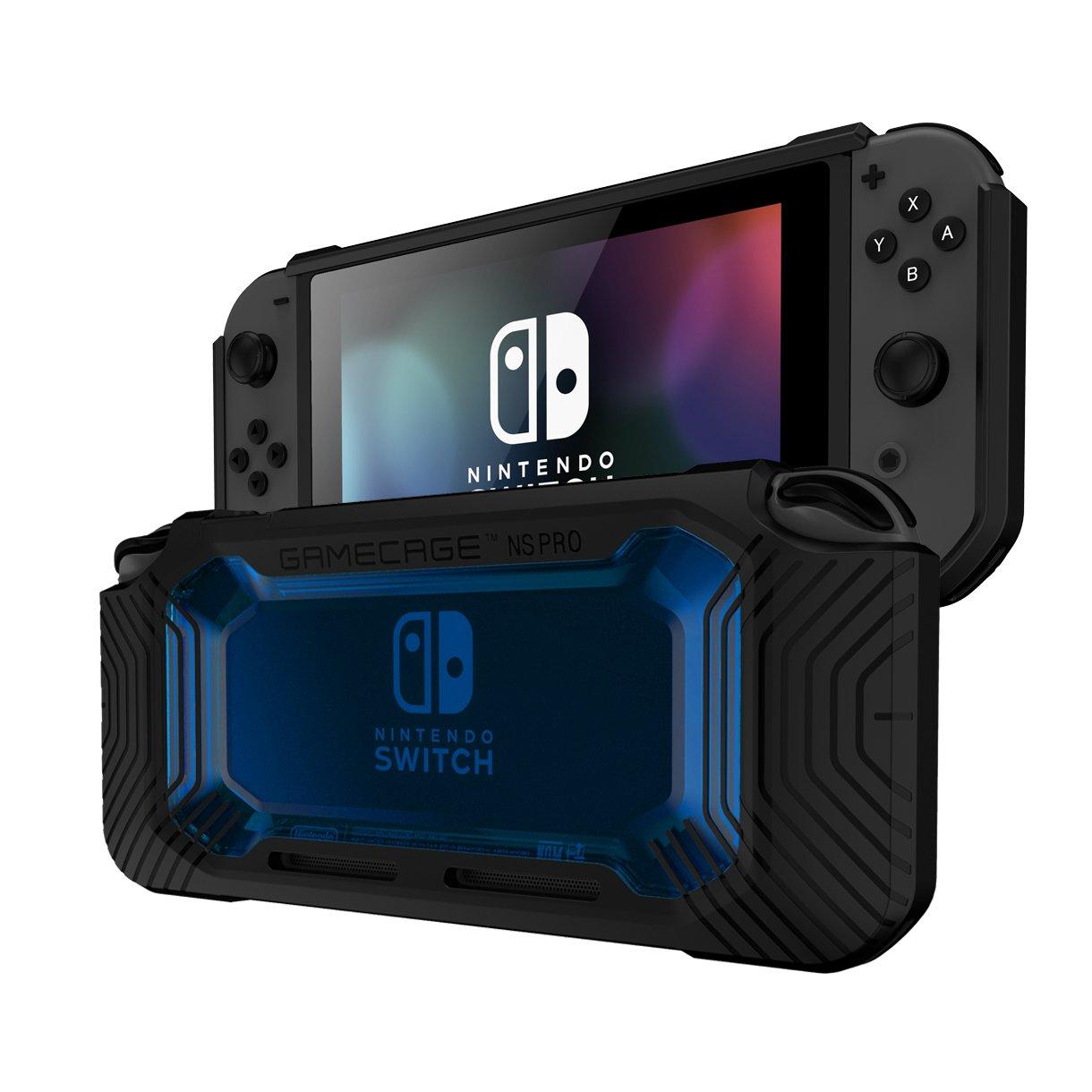 Rollcage - Carcasa para Nintendo Switch (policarbonato Duro, Poliuretano termoplástico), Color Negro y Rosa y Gris: Amazon.es: Electrónica