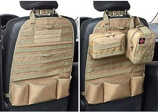 LIVIQILY Front Seat Storage Gun Sling Bag Car Seat Back Hunting Gun Holsters Pistols Organizer with Pockets