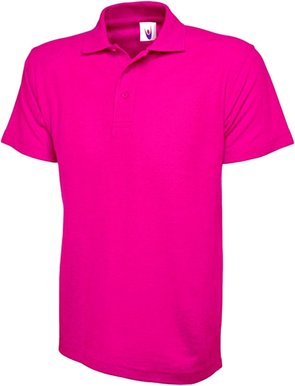 Ladies Loose Fit Polo Shirt Pique Longer Length Size 10 to 28 Plus Premium Plain Top