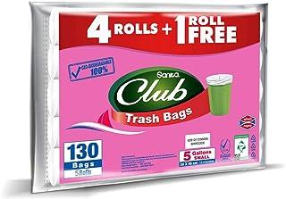 Sanita Trash Bags Club, 5 Gallons, 130 Bags, OXO Biodegradable, PR21BO0505R11