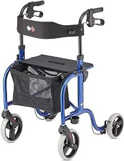 RL-Smart Lightweight Walker Rollator Foldable German Design (Blue)