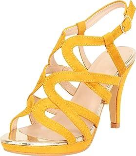 Women's Open Toe Strappy Cutout Caged Platform High Heel Sandal