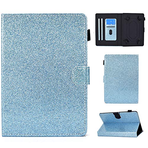 Ancase Tablet Case for Universal 9.5-10.5 Inch Leather Design Case Samsung Huawei Apple Lenovo Tablet 9.6 9.7 10.1 inch Protective Cover with Card Slots - Blue