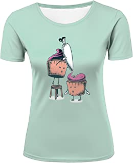 Men Women Unisex 3D T-Shirts Cream Filled Cupcake Casual Top Tee All Over Printting