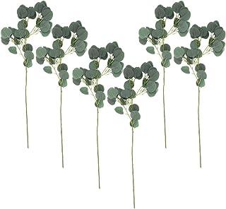 Koyal Wholesale Artificial Eucalyptus Plant Stems, 32 Inches Silver Dollar Bulk Pack of 6 Sprays, Faux Eucalyptus Leaves S...