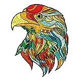 Puzzle de Madera - Piezas de Rompecabezas de Formas únicas, Puzzle de Águila arcoíris, Puzzle Animales para Adultos y Niños Colección de Familiares,A4(27x21cm)