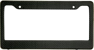 BLVD-LPF OBEY YOUR LUXURY Real 100% Matte Black Carbon Fiber License Plate Frame Tag Cover FF - C with Matching Screw Caps - 1 Frame