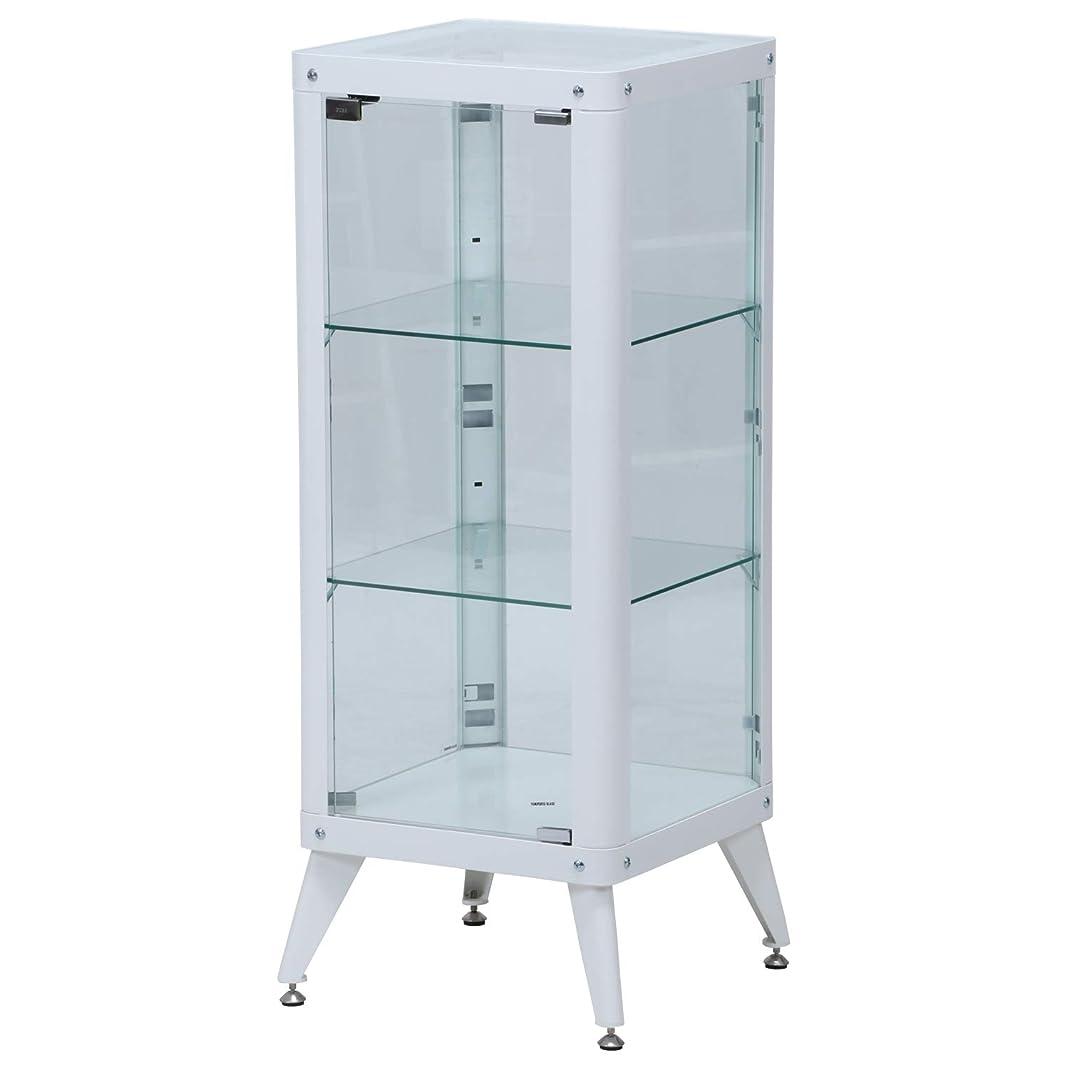 ペンダント基準ブランク不二貿易(Fujiboeki) ガラスケース ホワイト 幅40cm コレクションケース 3段 98845