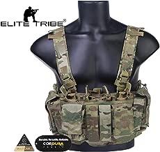 Elite Tribe MK3 Chest Rig l/éger modulaire pour la Poitrine Noir 5.56